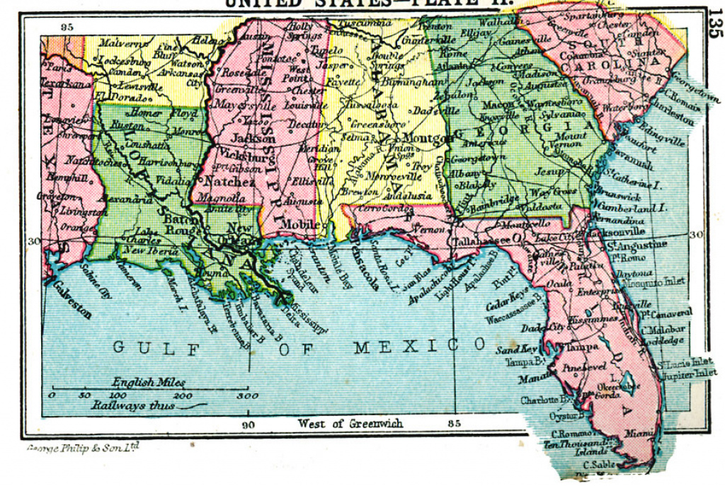 Southern United States with regard to Physical Map Of The Southeast United States