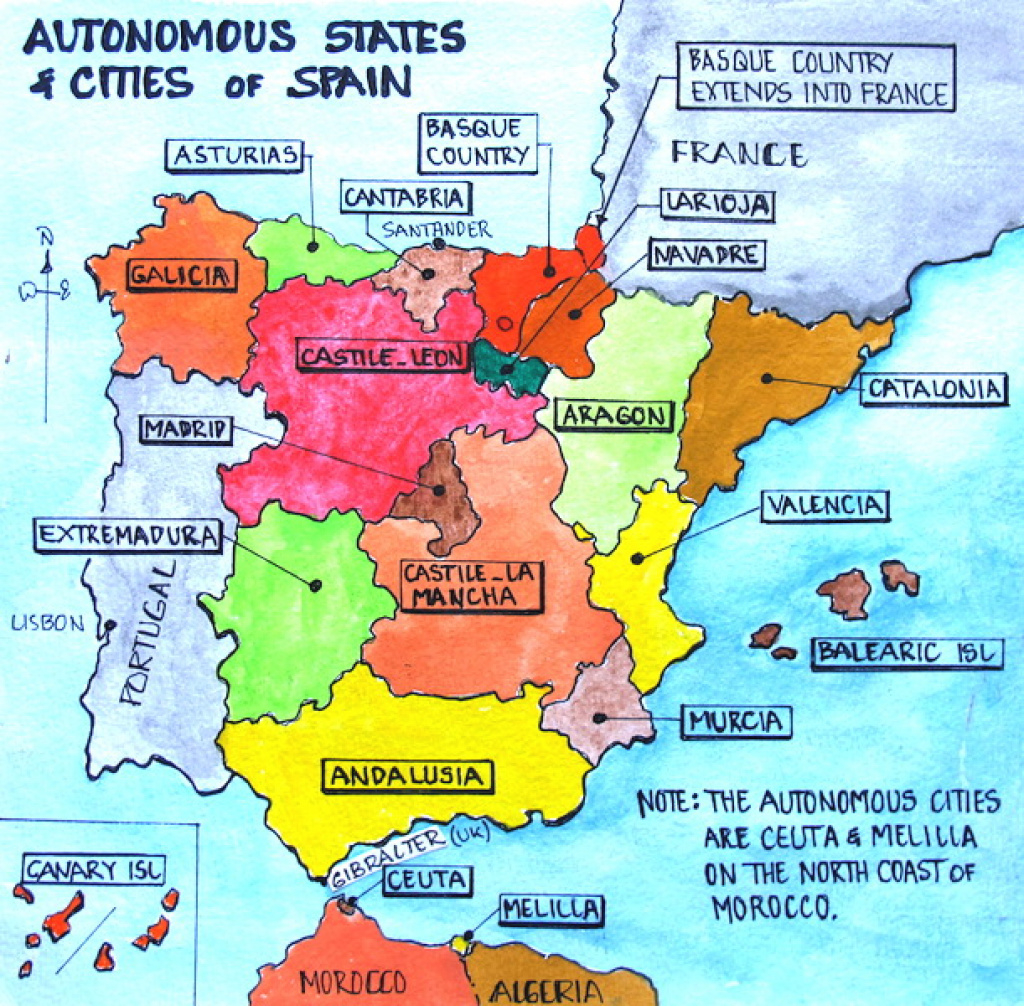 Spain: Santander | Fred And Bev's Odyssey with regard to Spain States Map