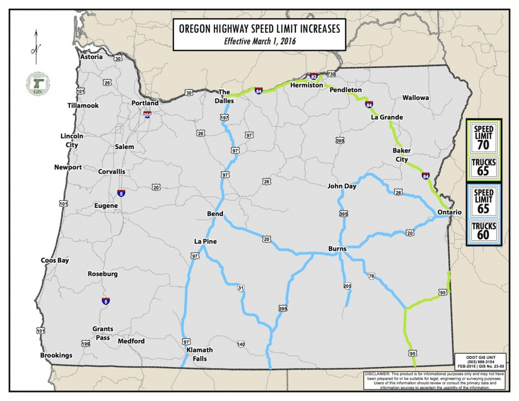Speed Limits Jump This Week On Some Oregon Highways | Oregonlive within Interstate Speed Limits By State Map
