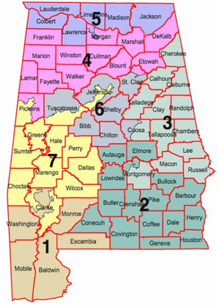 Split Montgomery Into Three Congressional Districts? regarding Alabama State Senate Map