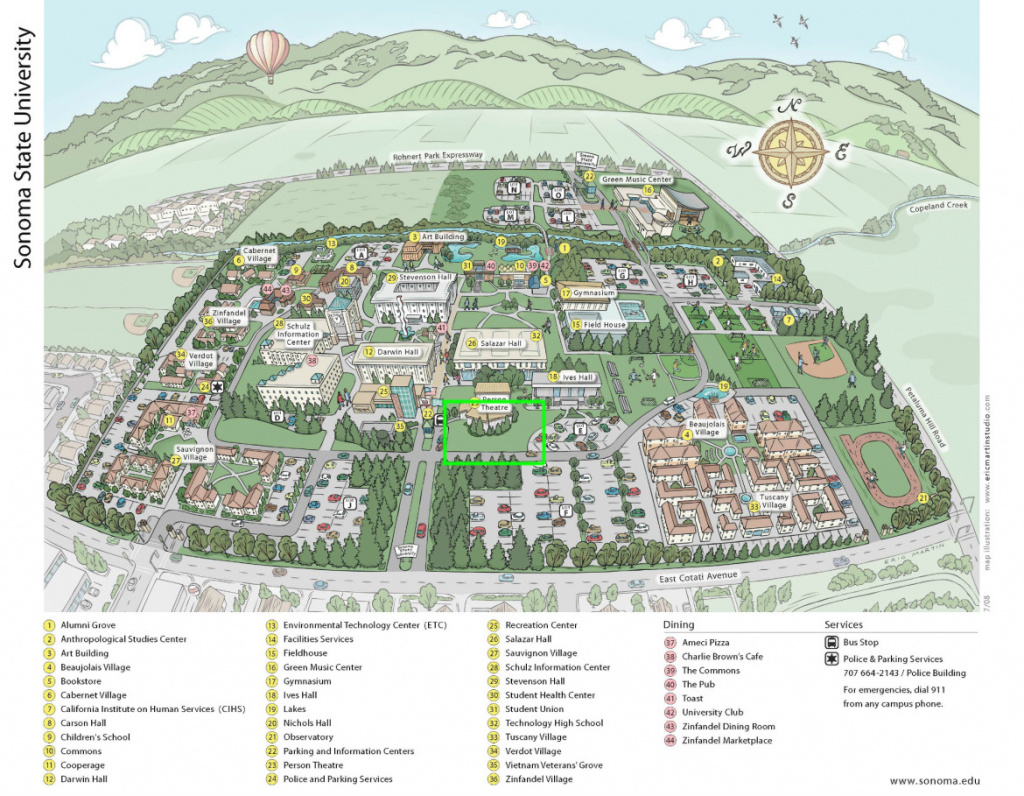 Ssu Map - Spikeball Roundnet Association regarding Sonoma State University Housing Map