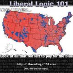 Standard Right Wing Propaganda: Heroic Red States Support Lazy Blue With Regard To Red State Blue State Map 2012 Presidential Election