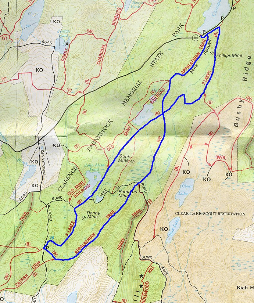 Staring At Empty Pages: Today's Hike: Fahnestock Park, Three Lakes Trail with Fahnestock State Park Trail Map