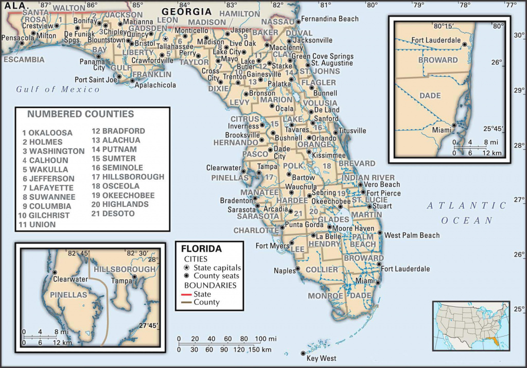 State And County Maps Of Florida regarding Florida State County Map With Cities