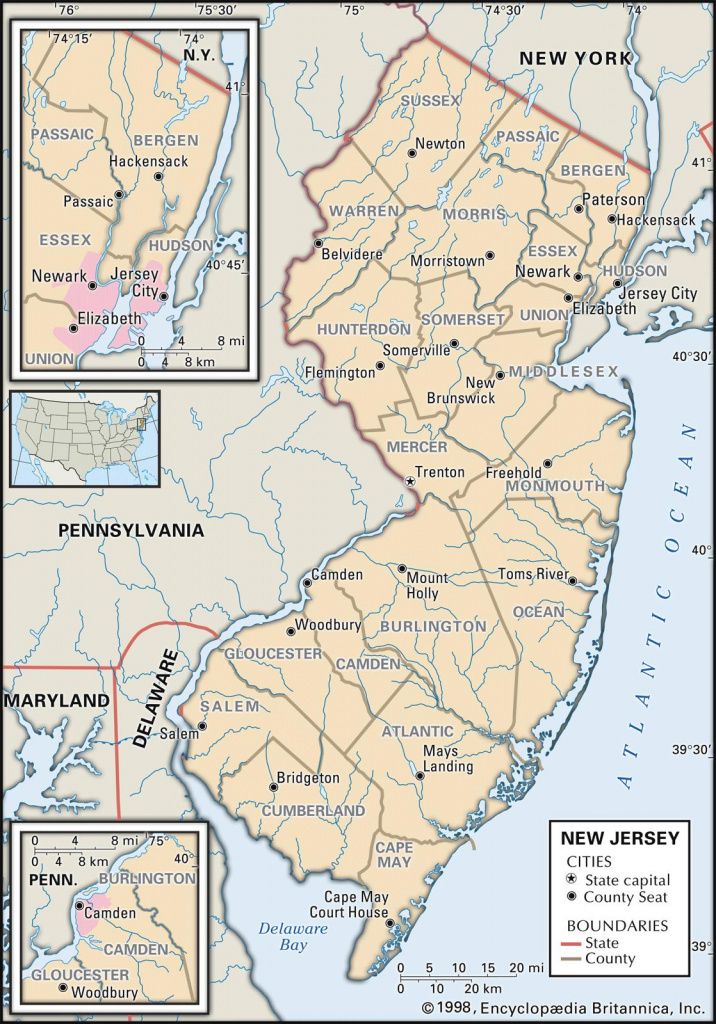 State And County Maps Of New Jersey pertaining to Map Of New Jersey And Surrounding States