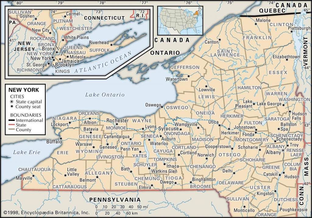 State And County Maps Of New York with New York State Map With Cities And Towns