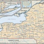 State And County Maps Of New York Within New York State Map Image