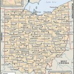 State And County Maps Of Ohio Pertaining To State Of Ohio Map Showing Counties