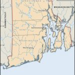 State And County Maps Of Rhode Island Throughout Map Of Rhode Island And Surrounding States