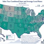 State And Local Sales Taxes In 2012   Tax Foundation In Us State Tax Map
