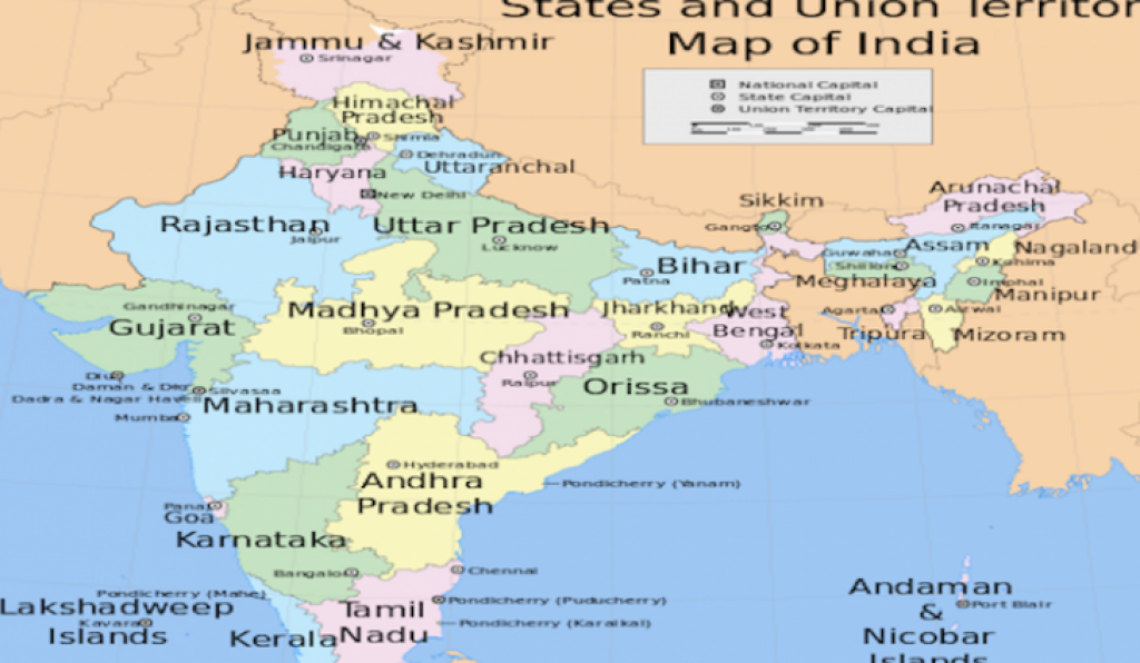 State Capitals Of India - Worldatlas with regard to India Map With States And Capitals