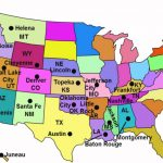 State Capitals Song   Youtube Throughout Map Of Usa Showing All States