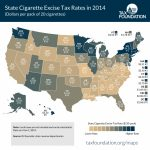 State Cigarette Tax Rates In 2014   Tax Foundation For Cigarette Prices By State Map