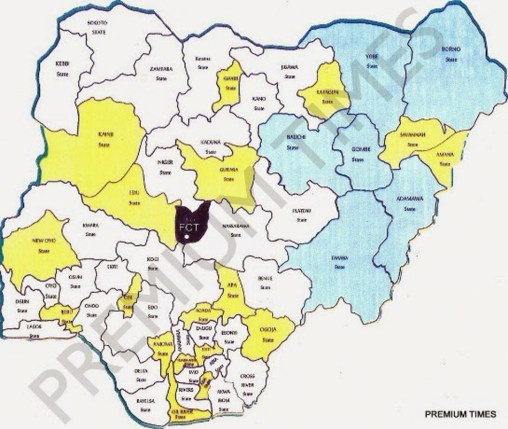 State Creation: New Proposed Map Of Nigeria Released - Daily Post inside Map Of Nigeria With States