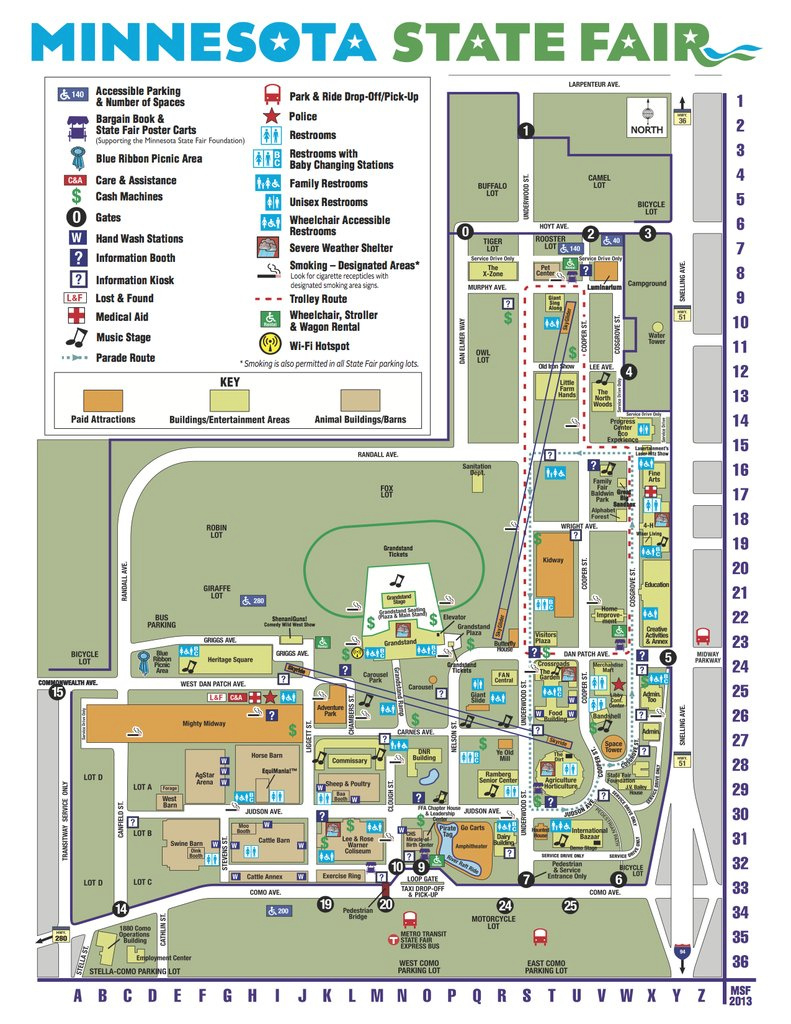 State Fair Mn Parking Map - Park Imghd.co in Mn State Fair Food Map