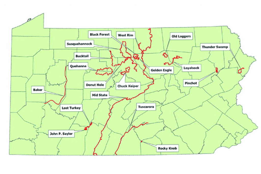 State Forest Hiking Trails pertaining to Pa State Forest Maps