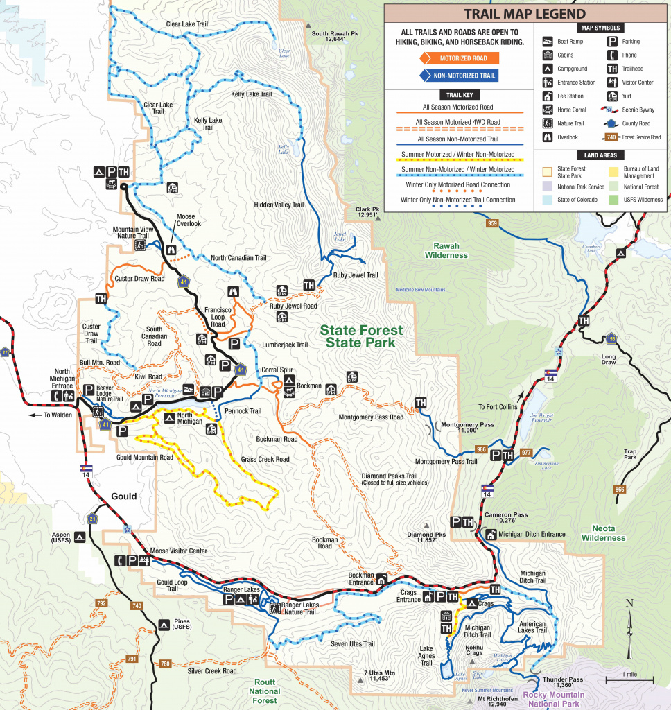 State Forest State Park | Outthere Colorado with regard to Colorado State Parks Map
