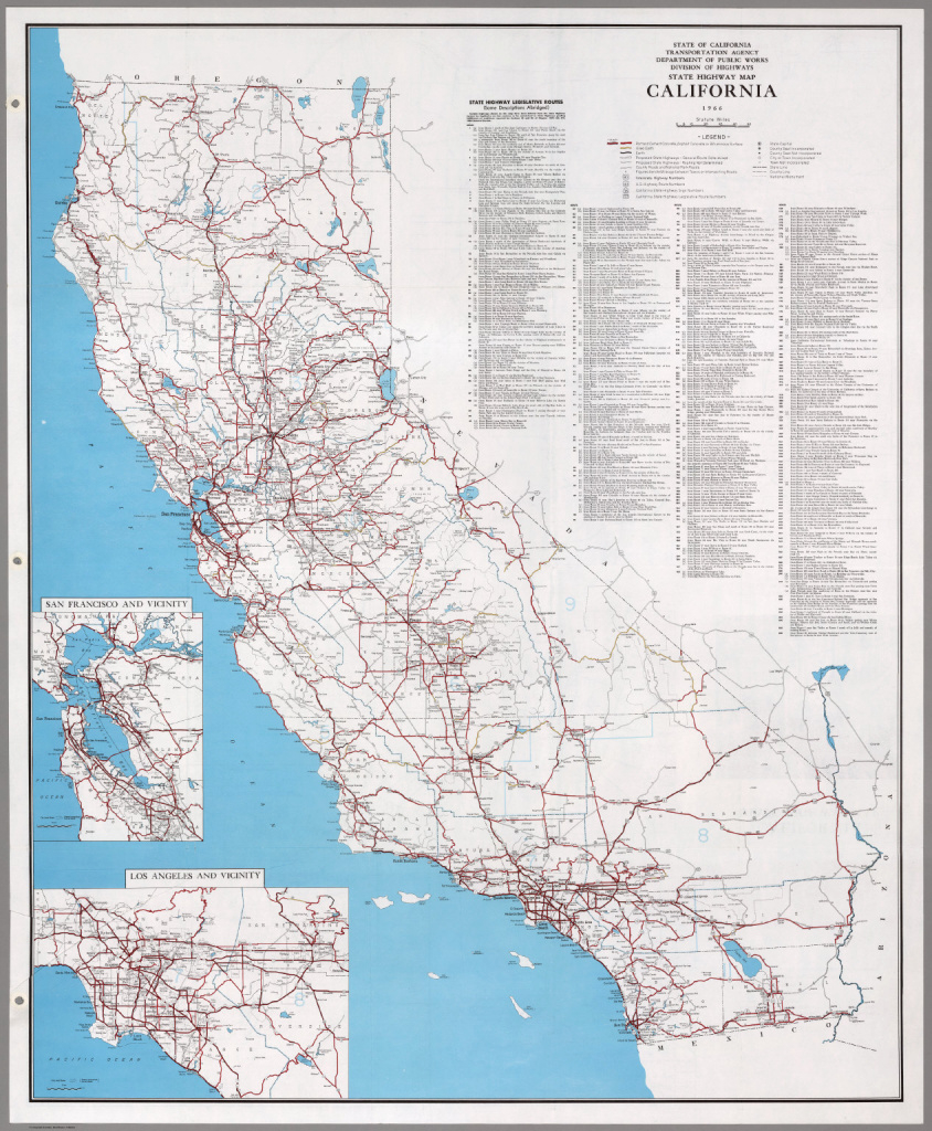 State Highway Map, California, 1966. - David Rumsey Historical Map within State Highway Map