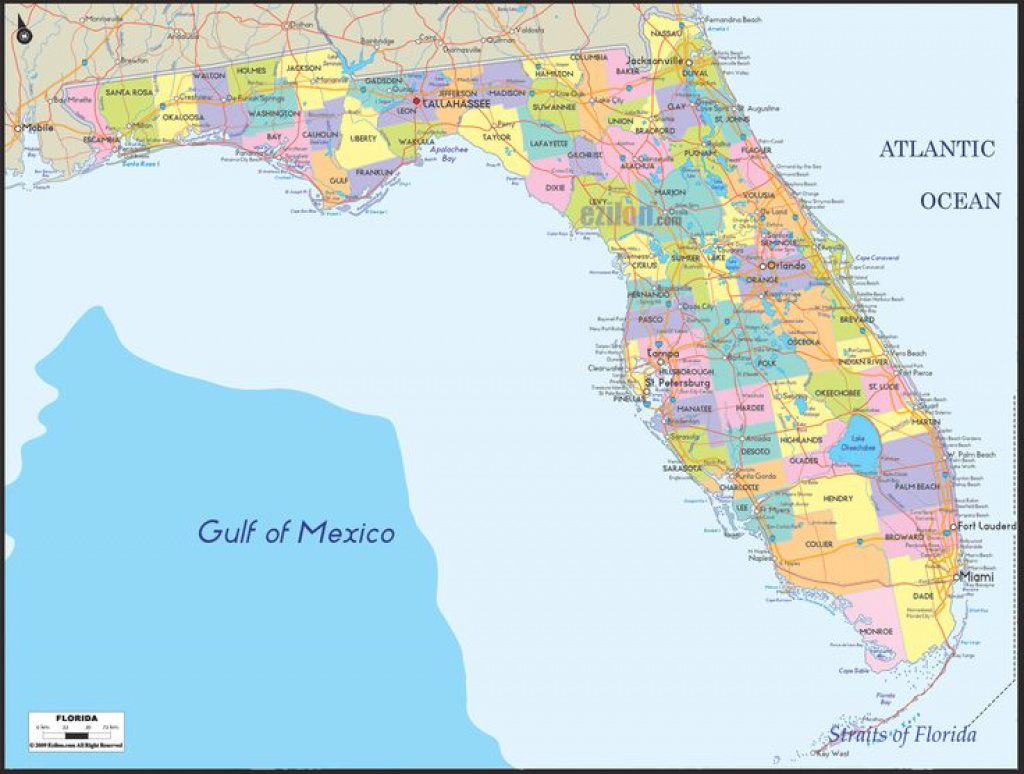 State Map Of Florida Showing Cities All Inclusive Map - Phoenixanarchist inside Florida State County Map With Cities