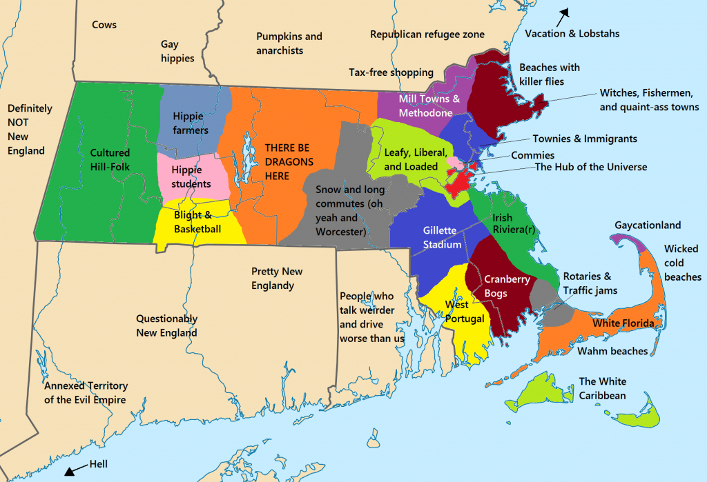 State Map Of Massachusetts And Travel Information | Download Free for State College Zip Code Map