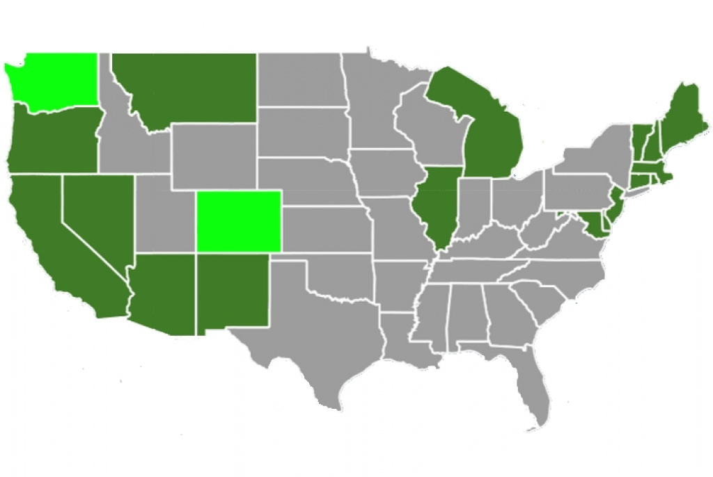State Marijuana Laws In 2018 Map in Legal States For Weed Map