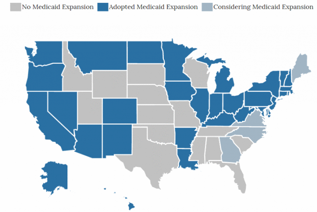 State Medicaid Expansion Map for Medicaid Expansion States Map