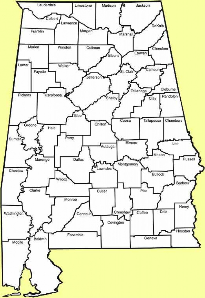 State Of Alabama Counties intended for Alabama State Map With Counties
