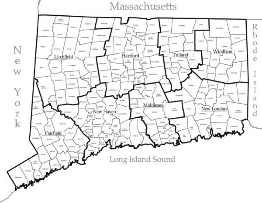 State Of Ct Map And Travel Information | Download Free State Of Ct Map pertaining to Connecticut State Map With Counties And Cities