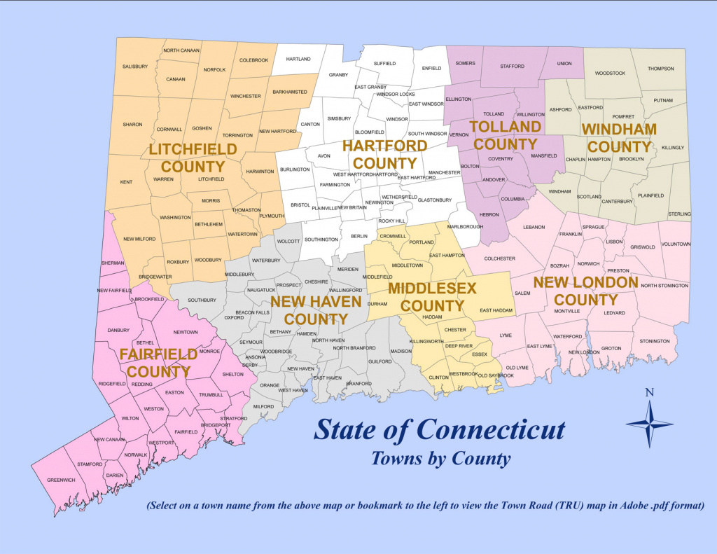 State Of Ct Map And Travel Information | Download Free State Of Ct Map regarding Connecticut State Map With Counties And Cities