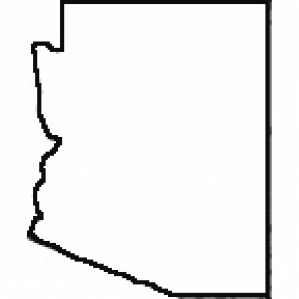 State Outline Arizona Map Free Image with Arizona State Map Outline