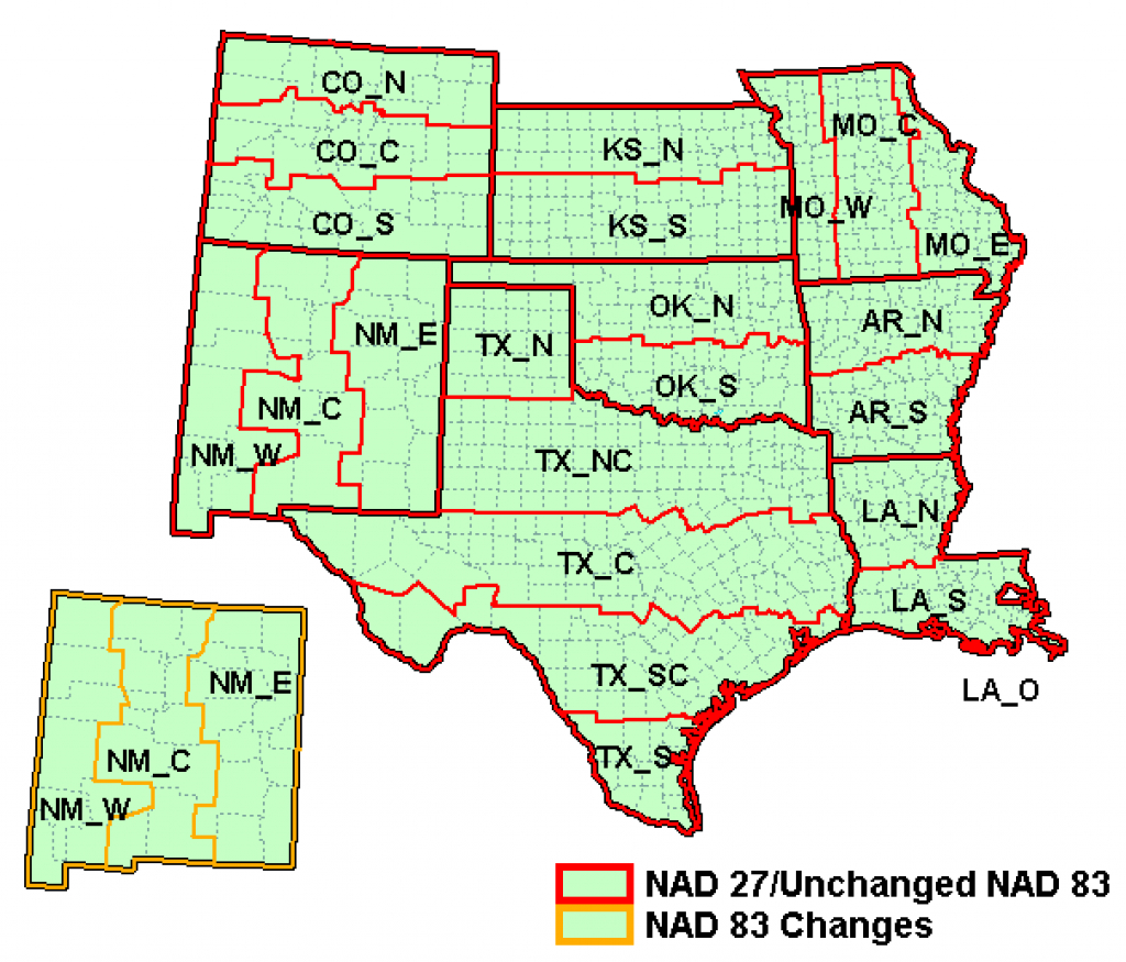 State Plane Coordinate System - Xms Wiki with regard to Texas State Plane Coordinate Map
