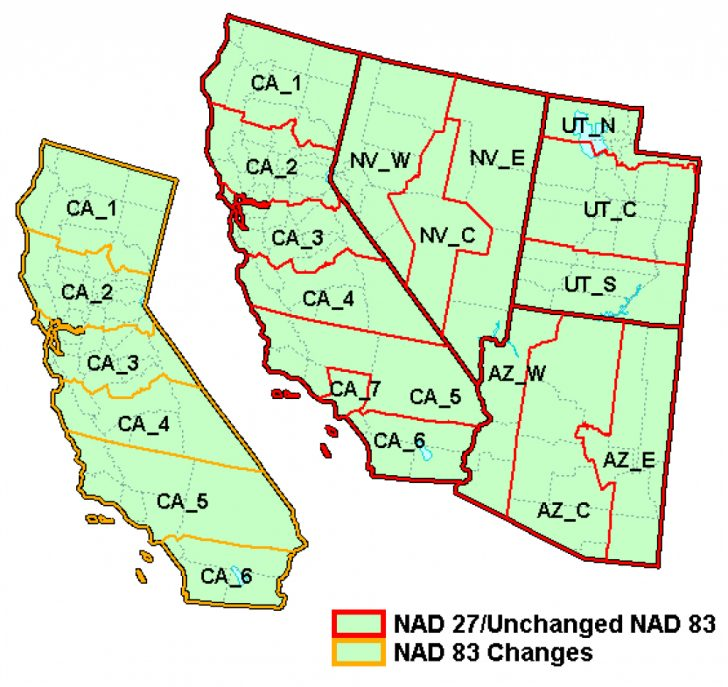 State Plane Coordinate System Map