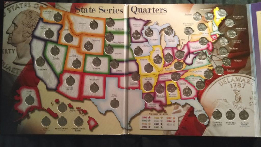 State Quarters | Decoding Your Dollars throughout State Series Quarters Collector Map