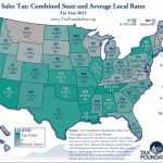 State Sales Tax: State Sales Tax Map 2016 Pertaining To Sales Tax By State Map