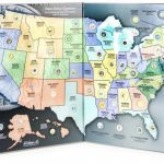 State Series Quarters 1999 2009 Collectors Map (Gray Fold)H. E. Inside State Series Quarters Collector Map