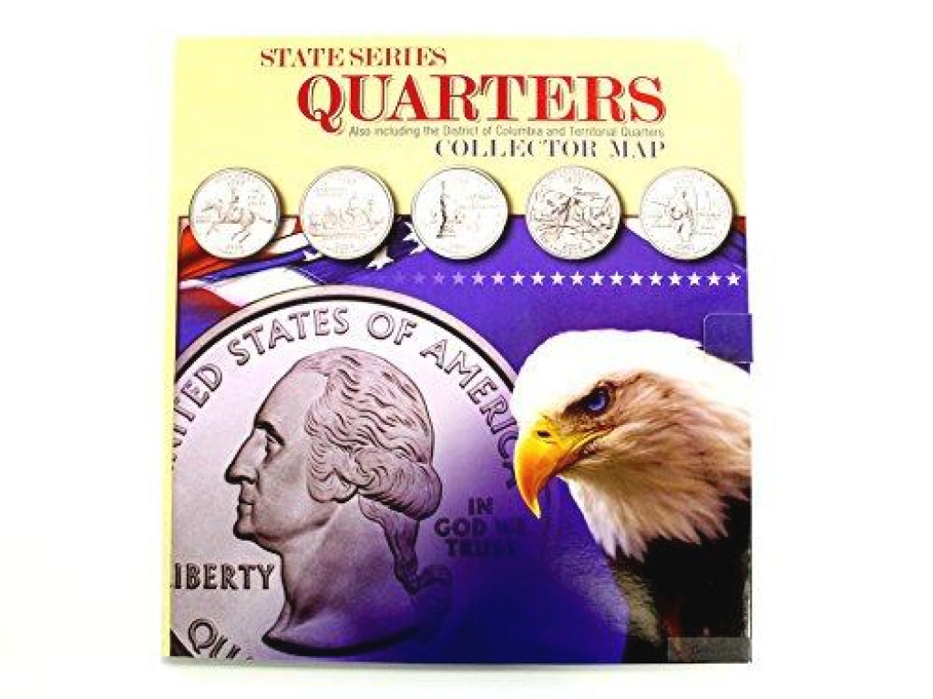 State Series Quarters Collector Mapwhitman Publishing with State Series Quarters Collector Map