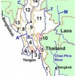 States And Divisions Of Myanmar   Burma Pertaining To Map Of Myanmar States And Regions