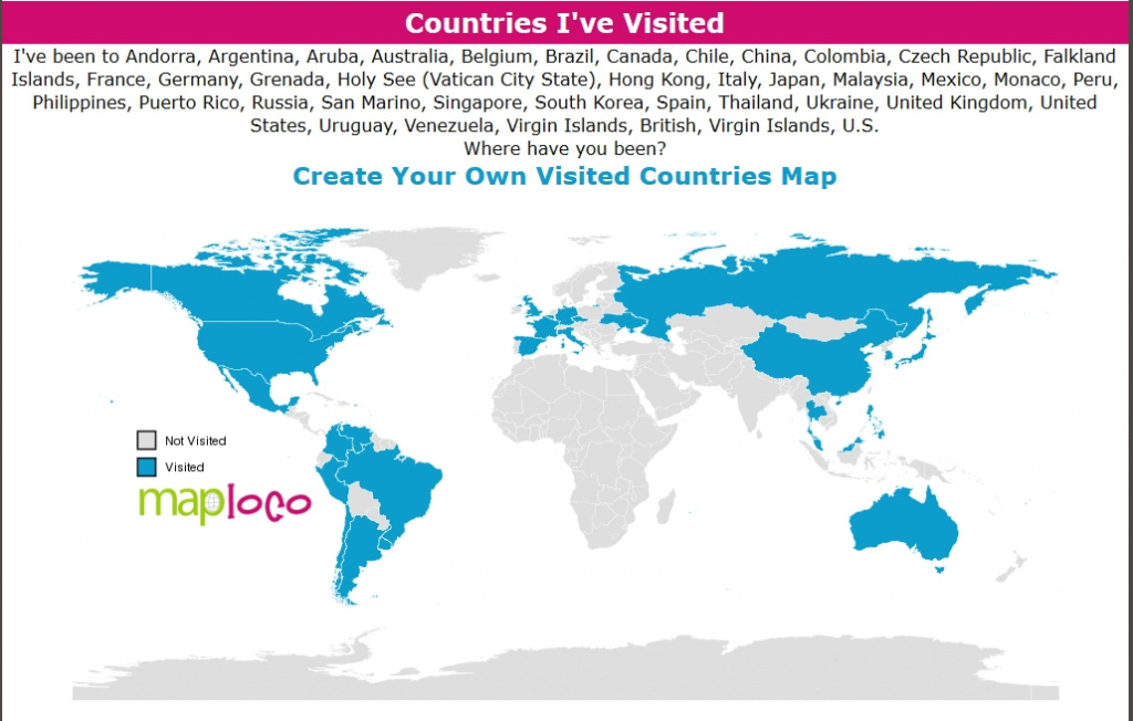 States I Ve Been To Map Map Of Us States I Ve Visited Us Map Of regarding States Ive Been To Map