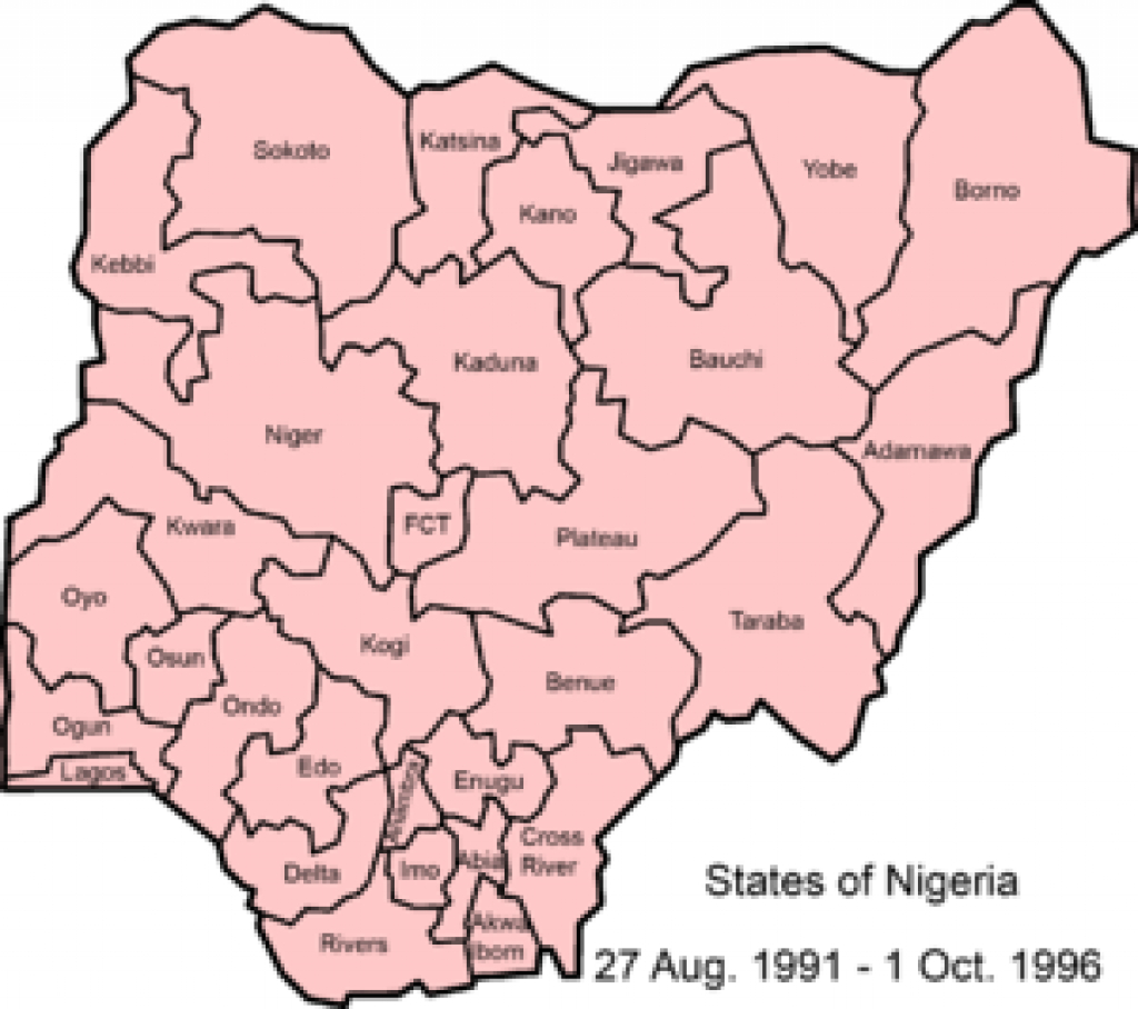 States Of Nigeria - Wikipedia regarding Map Of Nigeria With States