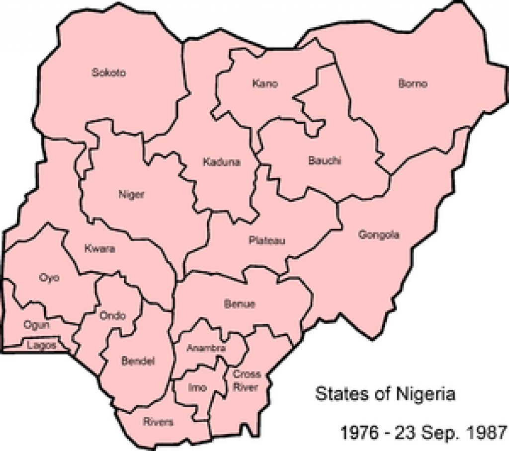 States Of Nigeria - Wikipedia with regard to Map Of Nigeria With States