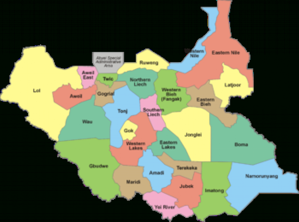 States Of South Sudan - Wikipedia inside Map Of South Sudan States And Counties