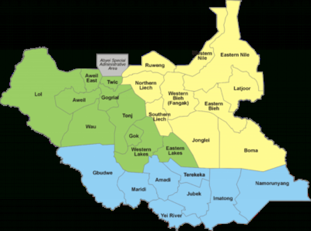 States Of South Sudan - Wikipedia regarding Map Of South Sudan States And Counties