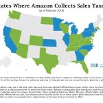 States Where Amazon Collects Sales Tax (Map)   Institute For Local Regarding Sales Tax By State Map