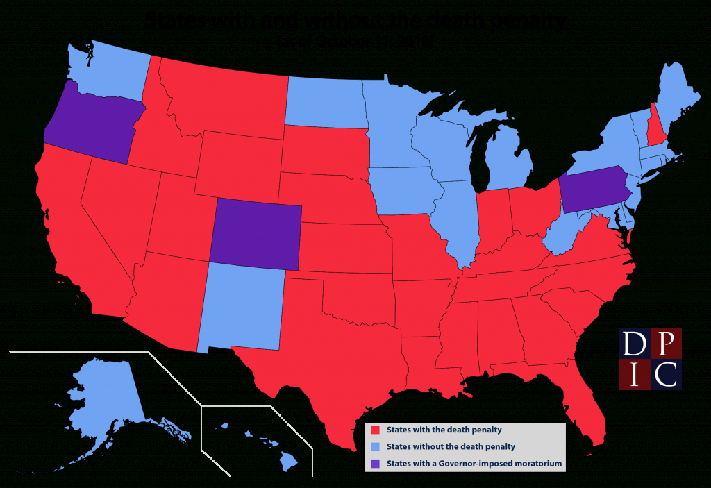 States With And Without The Death Penalty | Death Penalty pertaining to Death Penalty States Map