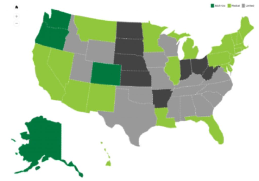 Statestate Policies | National Cannabis Industry Association Throughout States Where Weed Is Legal Map 2016