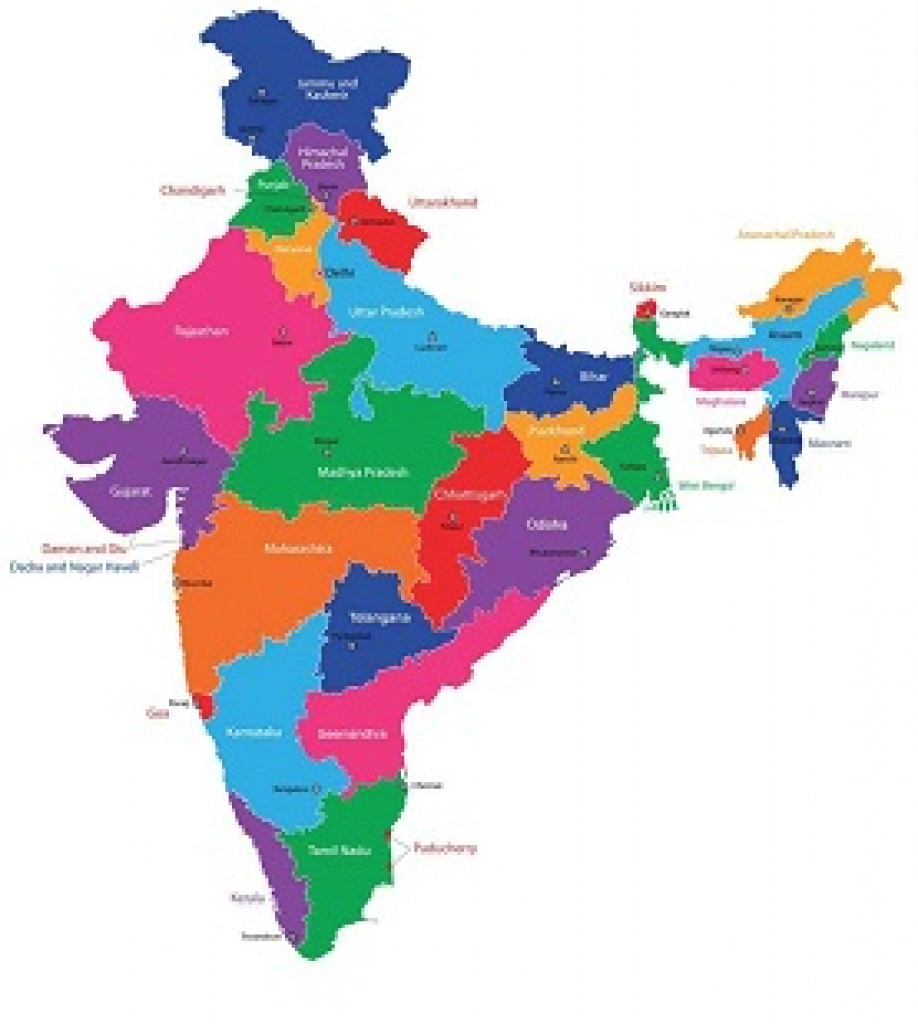 Statewise Static Gk - Pdf Download | Gr8Ambitionz throughout India Map Pdf With States