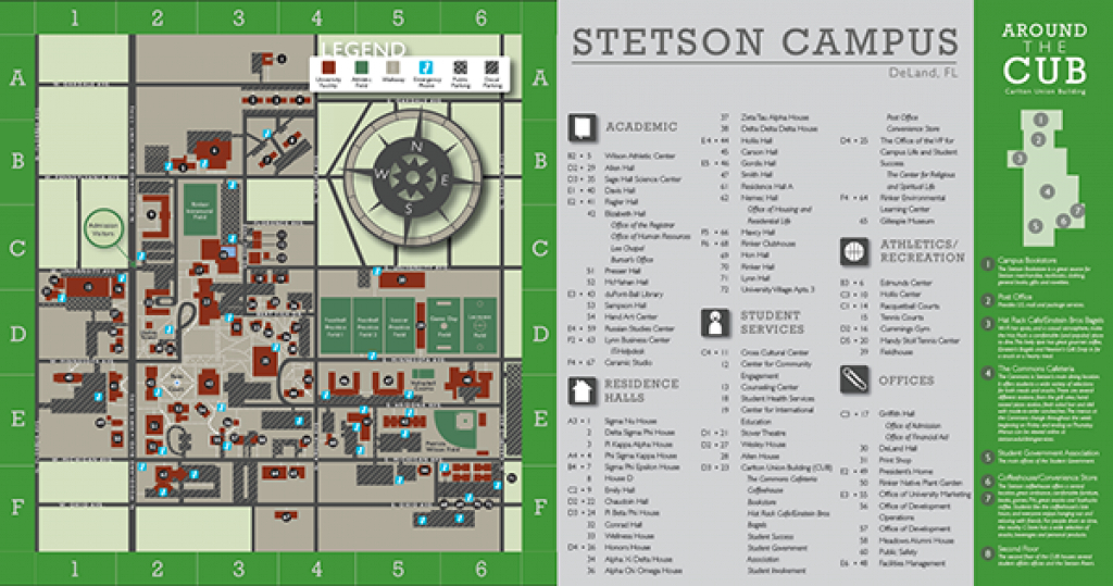 Stetson Campus Map On Pantone Canvas Gallery intended for Daytona State College Deland Campus Map