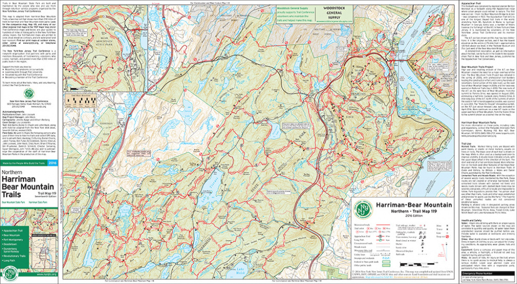 Suggested Hikes And Parking * Thendara Mountain Club pertaining to Harriman State Park Trail Map