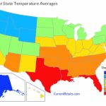 Summer Temperature Averages For Each Usa State   Current Results Inside Weather Heat Map United States