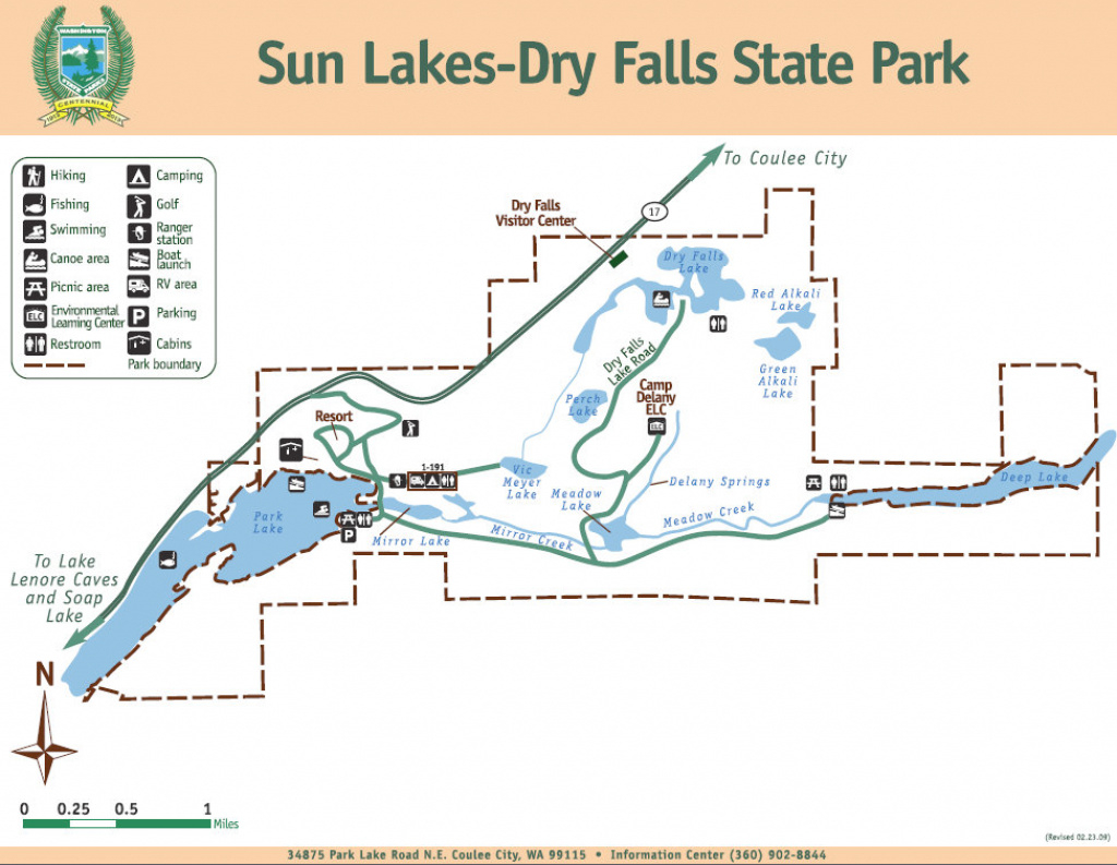 Sun Lakes- Dry Falls State Park - Grand Coulee intended for Sun Lakes State Park Site Map